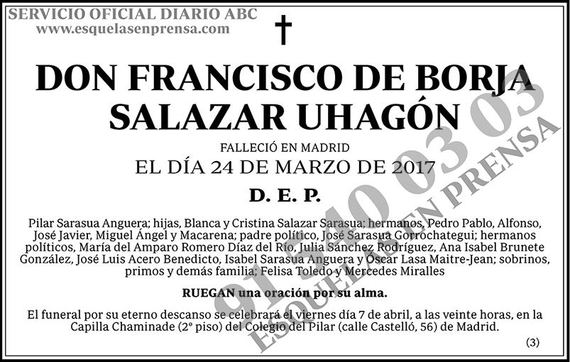 Francisco de Borja Salazar Uhagón